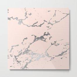 Pale Pink Marble Metal Print