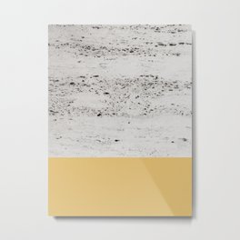 Summer Yellow on Concrete #1 #decor #art #society6 Metal Print