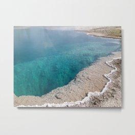 Crystal Blue Geyster Metal Print