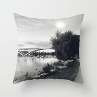 stockholm Throw Pillows featuring Stockholm 01 by Viviana Gonzalez