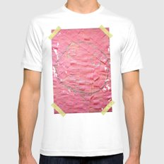 Smile on a pink toilet paper White Mens Fitted Tee MEDIUM