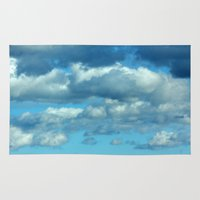 german Area & Throw Rugs featuring German clouds by LoRo  Art & Pictures