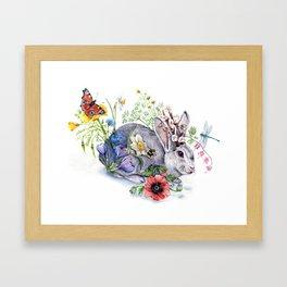 Spring Jackalope Framed Art Print