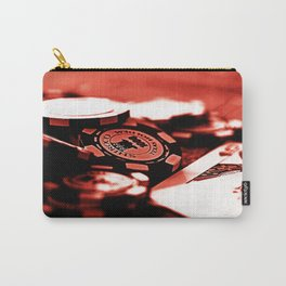 Casino Chips & Cards-Red Carry-All Pouch