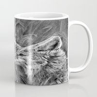 coyote Mugs featuring Coyote by Patrick Entenmann