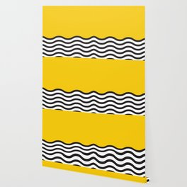 Waves of Yellow Wallpaper