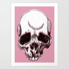 Skull in pink  Art Print