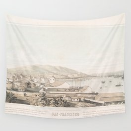 Vintage Pictorial Map of San Francisco CA (1849) Wall Tapestry