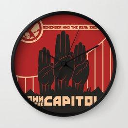 Down With The Capitol - Propaganda Wall Clock