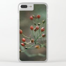 Red Berries Clear iPhone Case