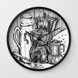 Moka Mia - Inktober #3 Wall Clock