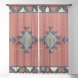 Aztec pattern Sheer Curtain