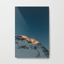 Mountain's Last Light Metal Print