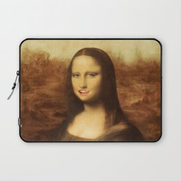 Mona Lisa Loves Valentine's Candy Laptop Sleeve