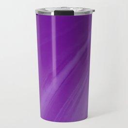 Blurred Violet Wave Trajectory Travel Mug