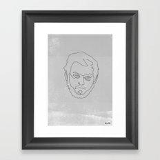 One line Stanley Kubrick Framed Art Print
