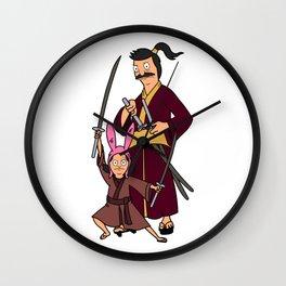 Louise and Bob Belcher Hawk and Chick Samurai Parody Wall Clock