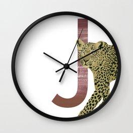 J - Jaguar Wall Clock