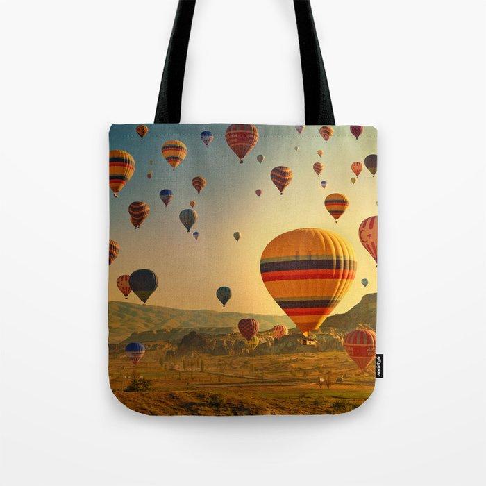 Hot Air Balloons at Sunrise in Cappadocia Tote Bag