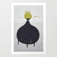 Bulb Man Art Print