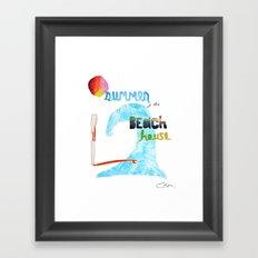 Summer at the Beach House Framed Art Print
