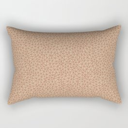 Sherwin Williams Cavern Clay SW 7701 Abstract Multi Sized Triangle Shape Pattern onLigonier Tan SW 7 Rectangular Pillow