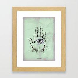 Hand with an Eye - 1 Framed Art Print