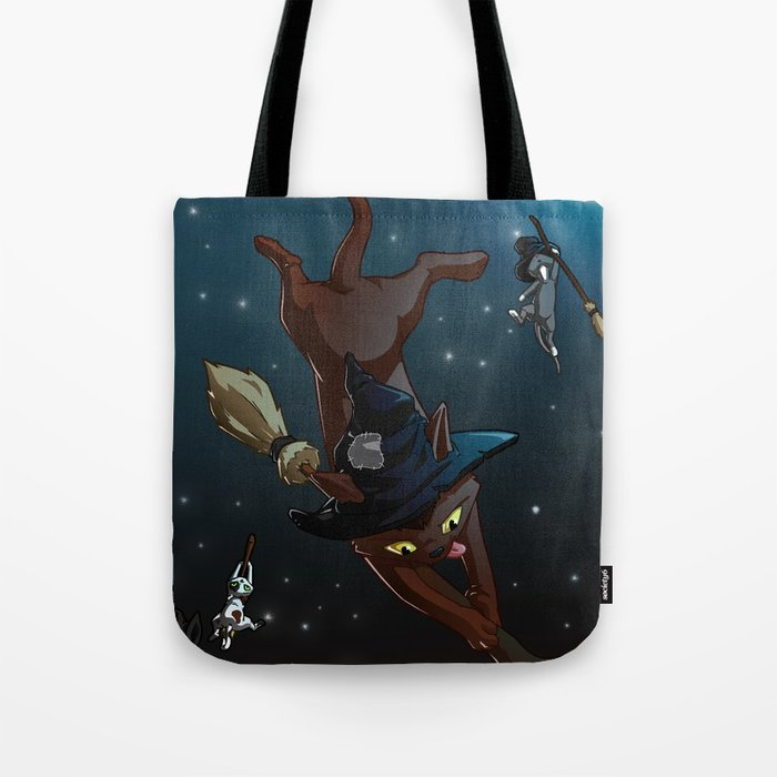 Witch Cat Apprentices Tote Bag