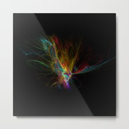 Fractal on black Metal Print