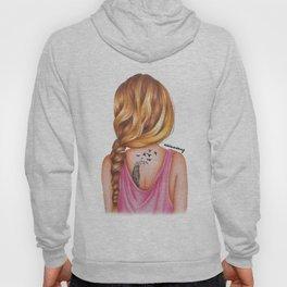 Blonde Rope Braid Girl Drawing Hoody