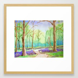 The Path in the Woods Framed Art Print