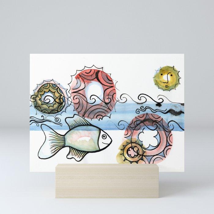 Life on the Earth - The Ocean Mini Art Print