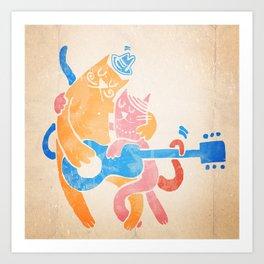 Custard declares his love to Beatrice Art Print