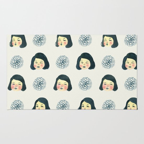 girly rug by young ju society6