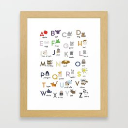 Thumbkins ABC's Framed Art Print