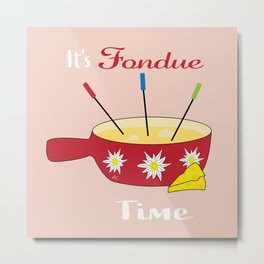 It's cheese fondue time doodle Metal Print