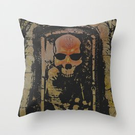darkness rises when silence dies Throw Pillow