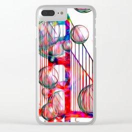Golden Gate Bubbles Clear iPhone Case