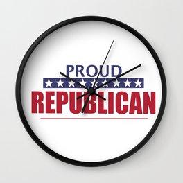 Proud Republican Wall Clock