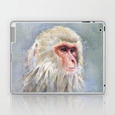 Snow Monkey Watercolor Animal Laptop & iPad Skin