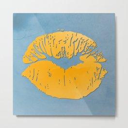 Watercolor kiss 9 Metal Print