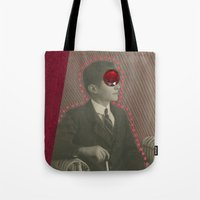 david lynch Tote Bags featuring David Lynch by Naomi Vona