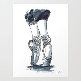Ballet Dancer On Pointe Shoes 5 Art Print