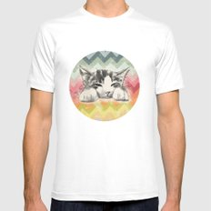 Mr. kitty White SMALL Mens Fitted Tee