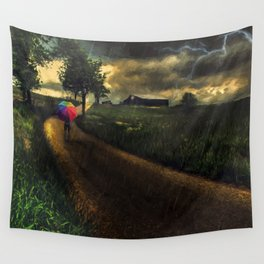 A Stormy Night Wall Tapestry