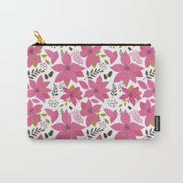 MickMick's  Serene Poinsettia Pink Carry-All Pouch