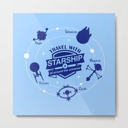 Starship travel Metal Print
