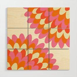 Dahlia at 60's Wood Wall Art