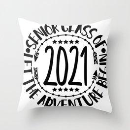 Class Of 2021 Senior Graduation Throw Pillow
