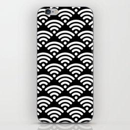 WiFi Pattern (white on black version) iPhone Skin
